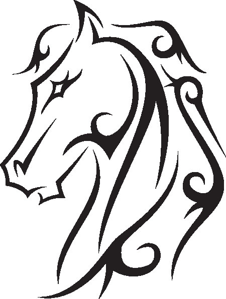 450x596 Horse Swirly Design Embroidery Machine File By Stichitup On Etsy