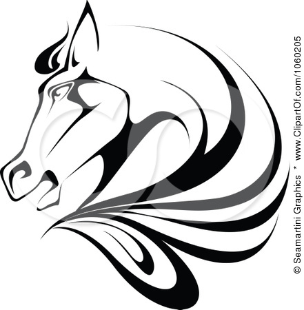 441x450 Royalty Free Vector Clip Art Illustration Of A Black And White