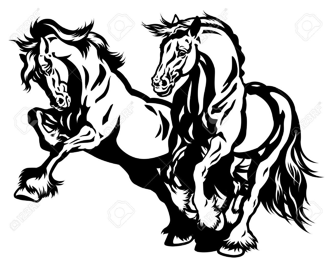1300x1060 Silhouette Draft Horse Seens