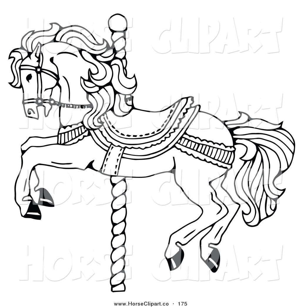 1024x1044 Carousel Horse Coloring Pages Carousel Horse Decorated Bows