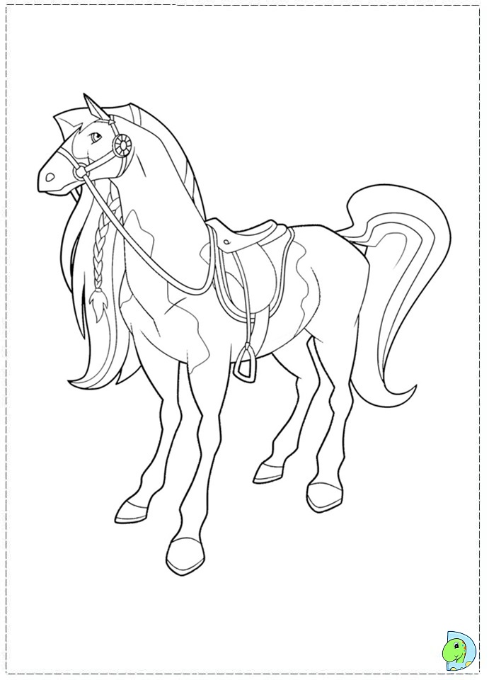 691x960 Horse Drawing For Kids