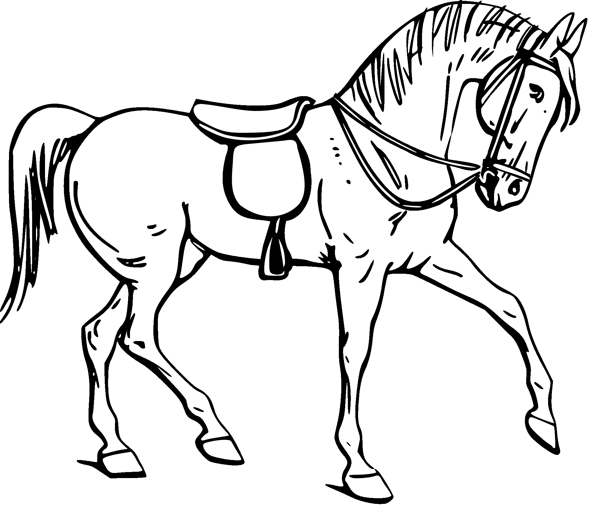 1969x1684 Horse Outline Coloring Page Horses Coloring Pages Free Coloring