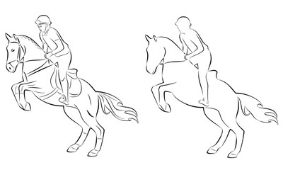 400x240 Jumping Horse Outline Photos, Royalty Free Images, Graphics