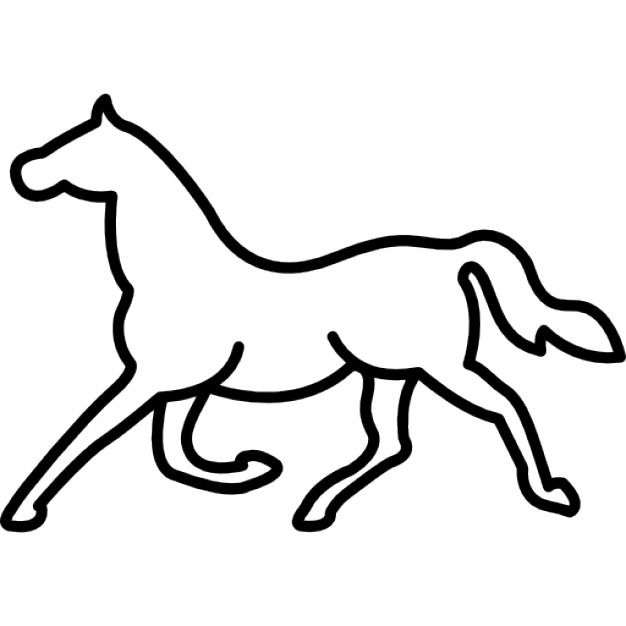 626x626 Trotting Horse Outline Icons Free Download