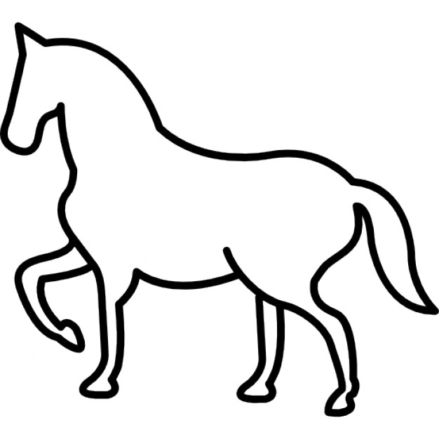 626x626 Walking Horse Outline With One Frontal Paw Lifted Icons Free