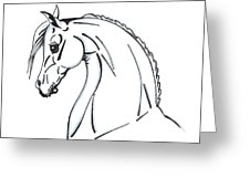 226x170 Horse Profile Sketch Drawing By Christopher Mckenzie