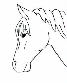 236x290 Horse Profile Vector Outline