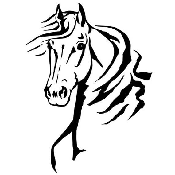 570x570 Horse Profile Stencil 5 Formats Stencils Svg Dwg Dxf Png Pdf