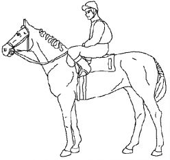 248x233 Horse Coloring Page Of Race Horse And Jockey Horse Lessons