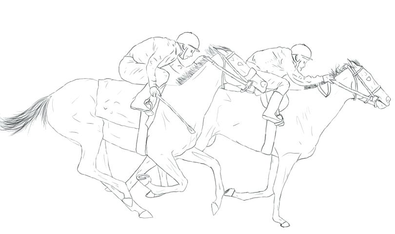 810x479 Horse Racing Coloring Pages Barrel Racing Horse Coloring Page Race