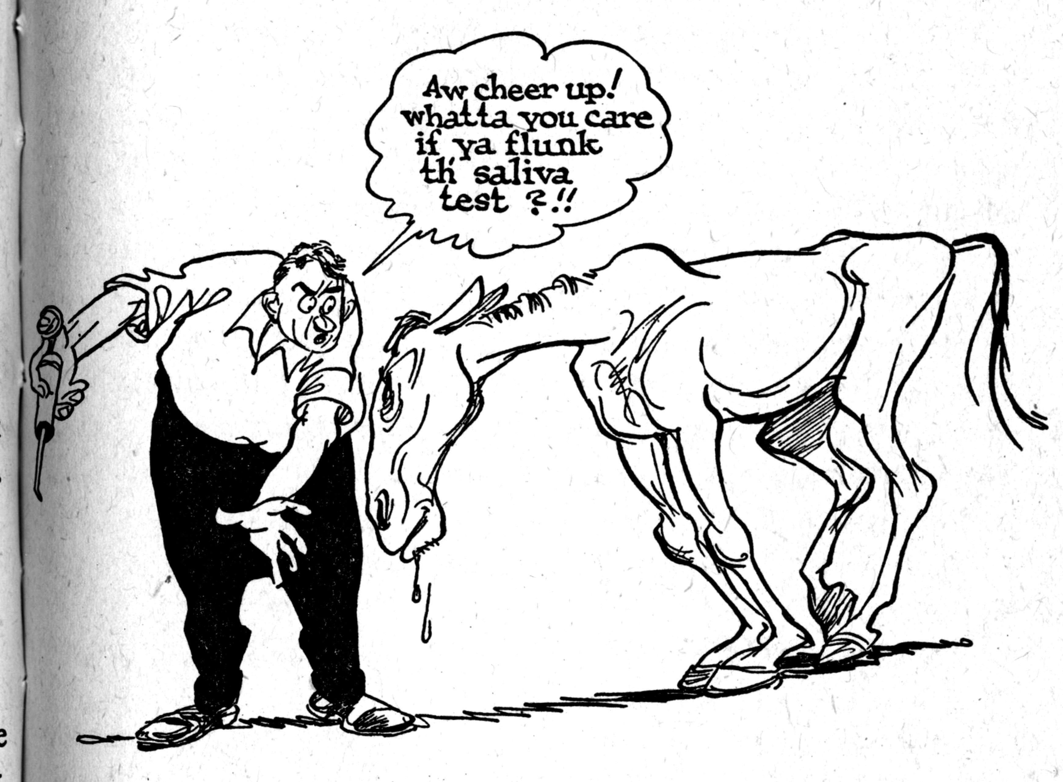 3482x2564 Cartoon SNAP Willard Mullin Goes To The Races