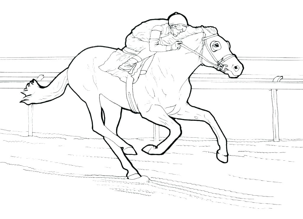 1024x740 Free Horse Coloring Pages Carousel Animals For