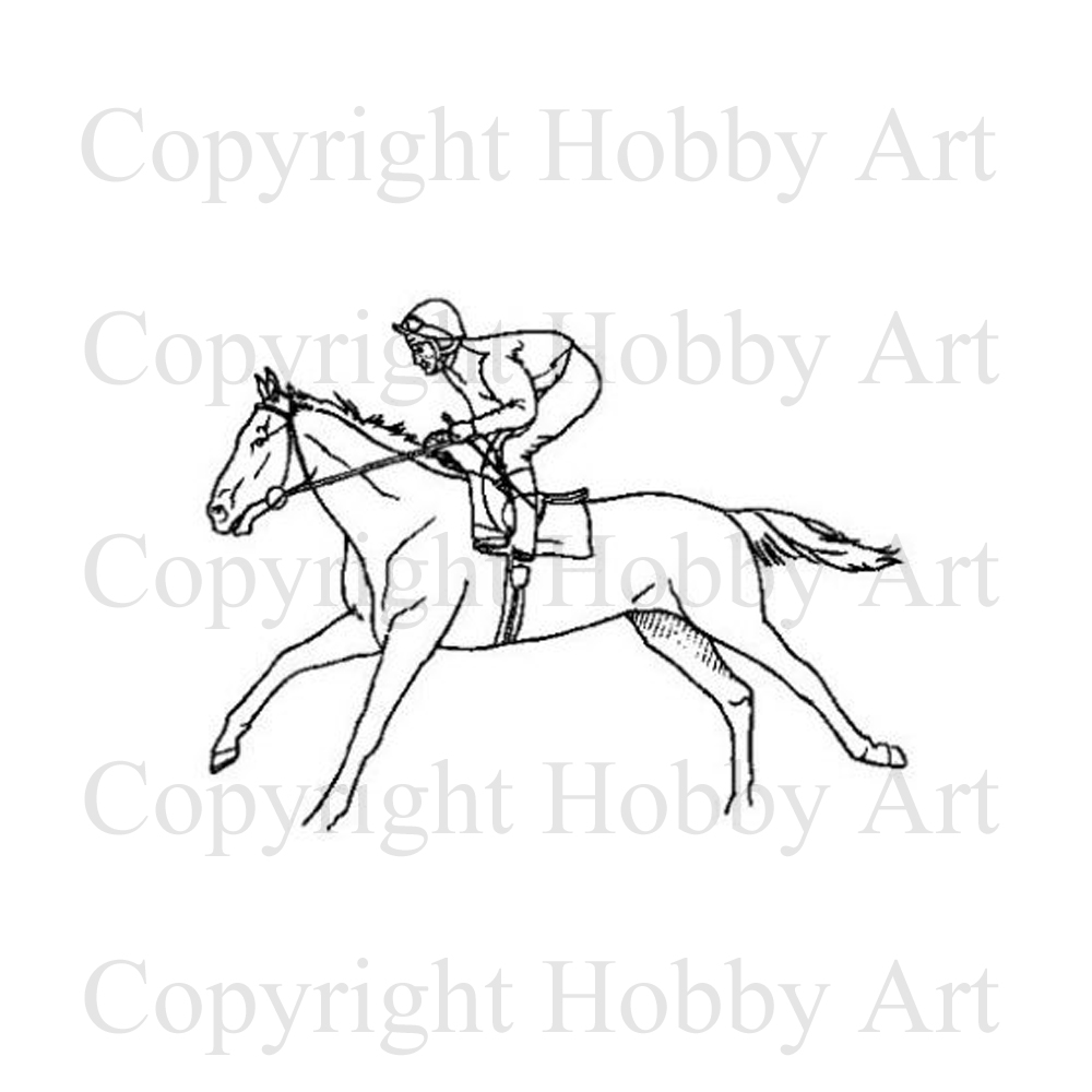 1000x1000 Horse Racing Machines Amp Sports Rubber Stamps Products