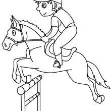 220x220 Steeplechase Horse Racing Coloring Pages