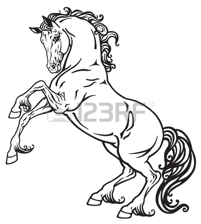 403x450 1,464 Rearing Horse Cliparts, Stock Vector And Royalty Free