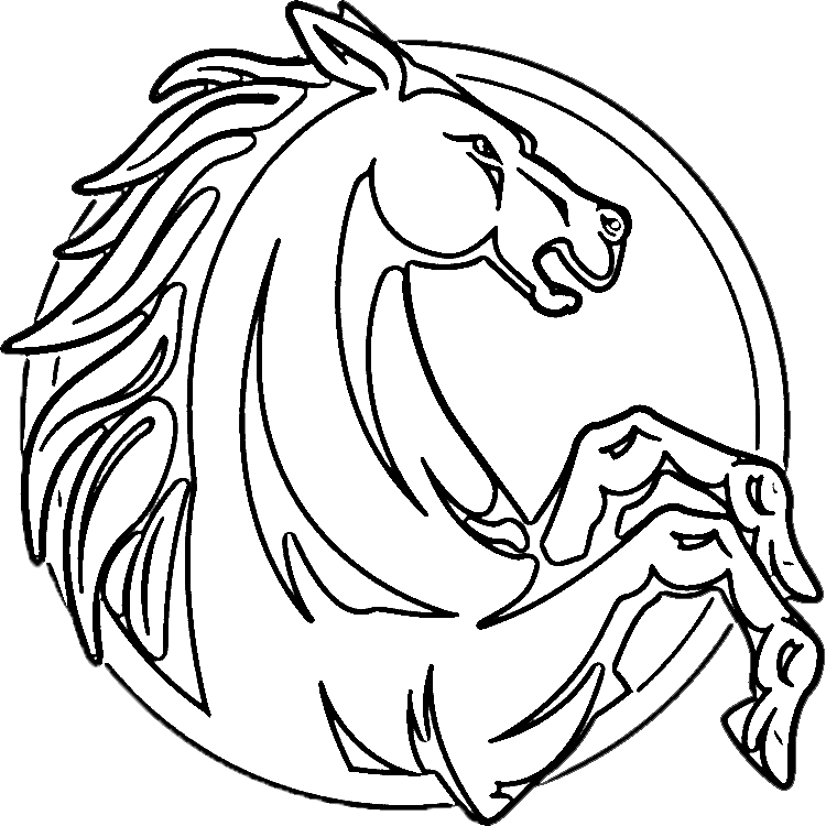 750x750 Horse Head Coloring Page