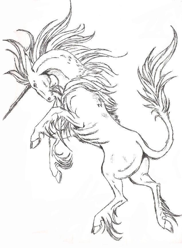 635x864 Rearing Horse Drawing