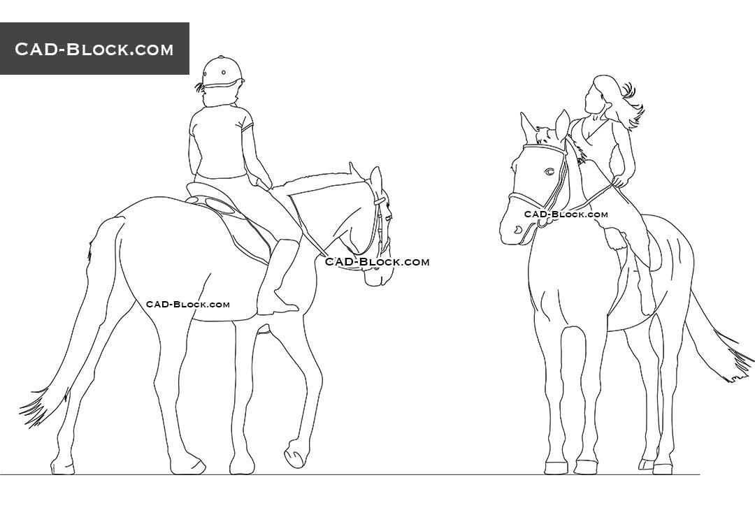 1080x760 Horse Rider Download Free Cad Blocks, Autocad File, 2d Models