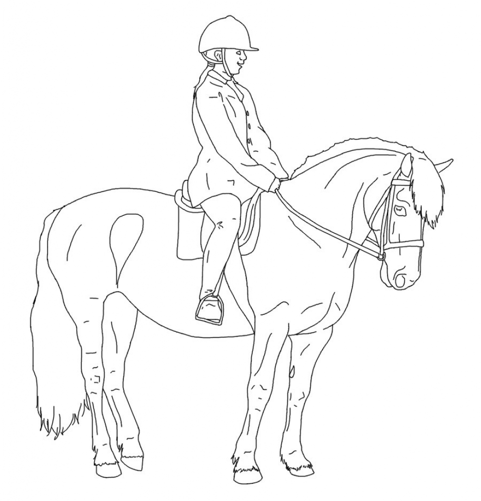 982x1024 Horse Riding Drawing Horse Rider Sketch Drawing Images