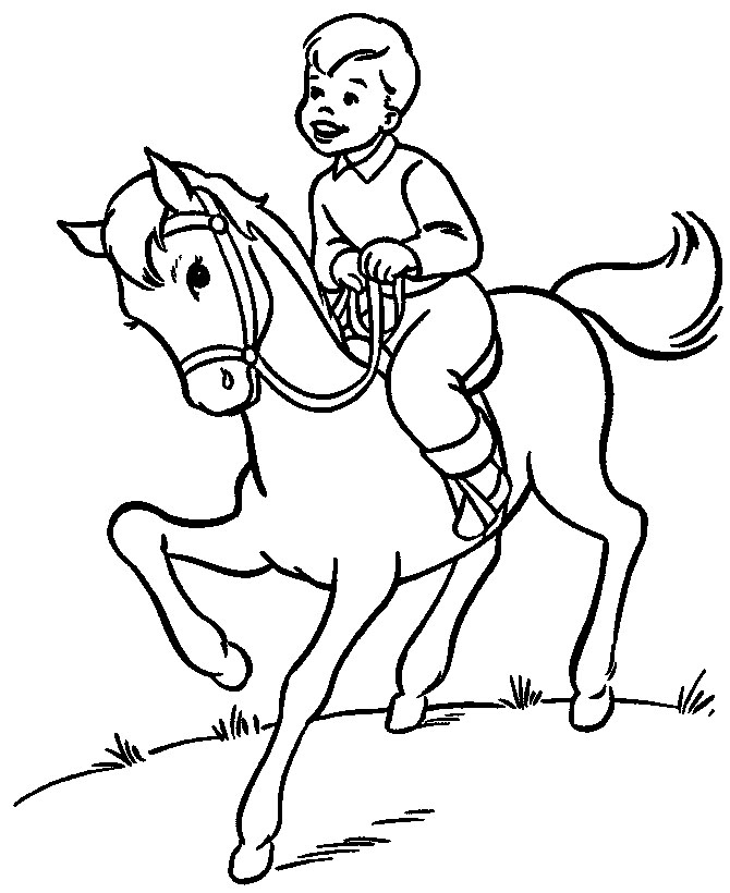 670x820 Sports Coloring Pictures For Kids Horse Riding Coloring Pages