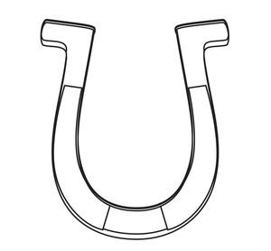 300x278 Horseshoe Shape Drawing Royalty Free Stock Image