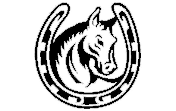 584x368 With Horseshoe Sticker