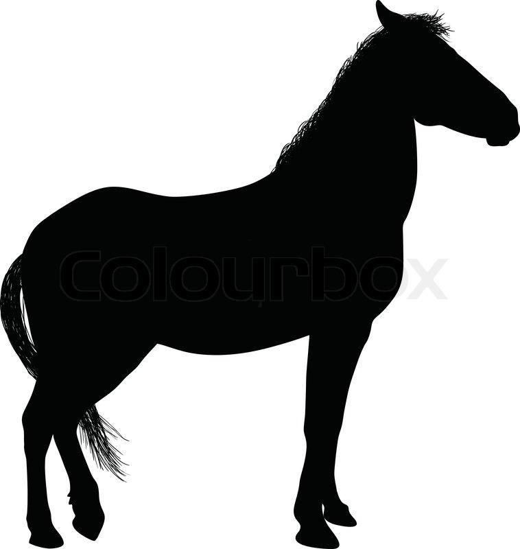 758x800 Horse Silhouette Stock Vector Colourbox