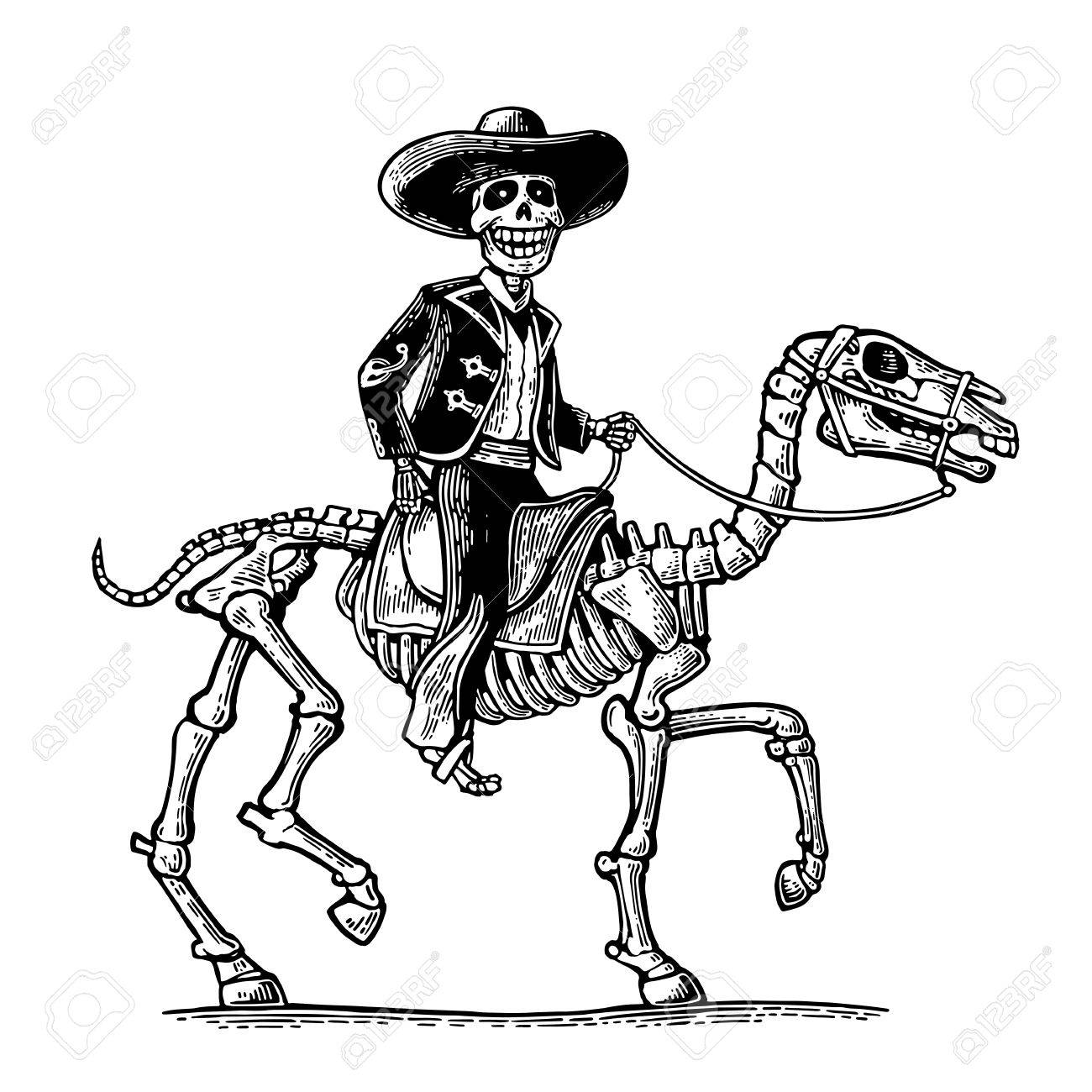 1300x1300 The Rider In The Mexican Man National Costumes Galloping