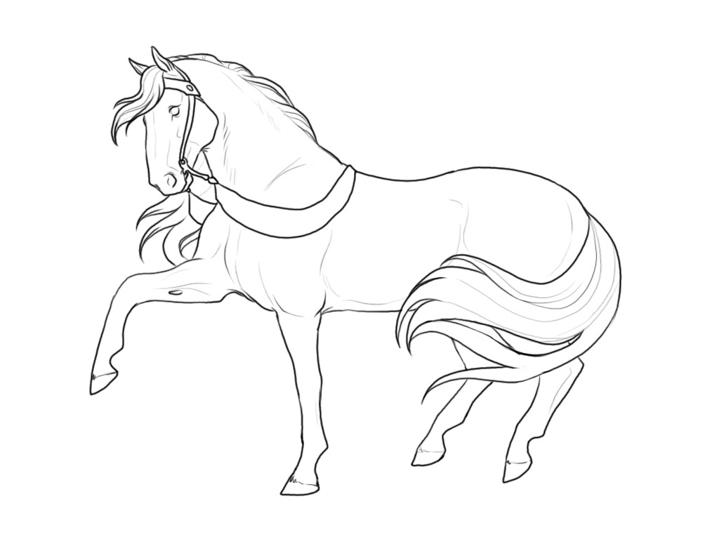 1024x768 Coloring Pages Horse Trailer Fresh Breyer Horse Coloring Page Free