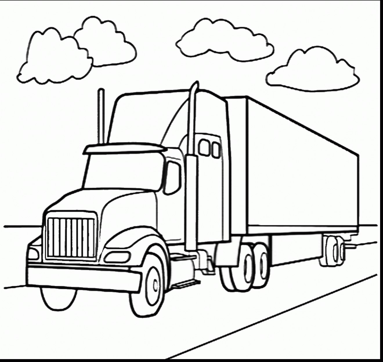 1320x1247 Coloring Pages Horse Trailer Fresh Diesel Truck Coloring Pages