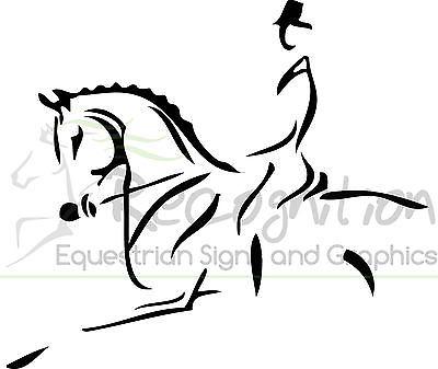 400x337 Horsebox Trailer Sticker Decal Horse Dressage Line Art Graphics
