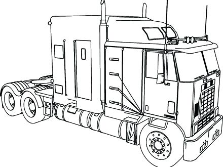 440x330 Ideas Horse Trailer Coloring Pages Or Truck Flatbed Trailer 14