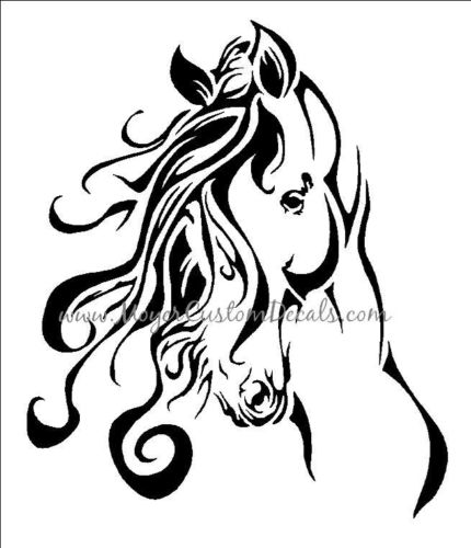 430x500 Large Horse Trailer Decal Sticker