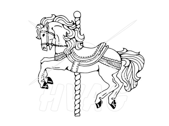 667x498 Carousel Drawings For Carousel Horse Reach Wash System Eps