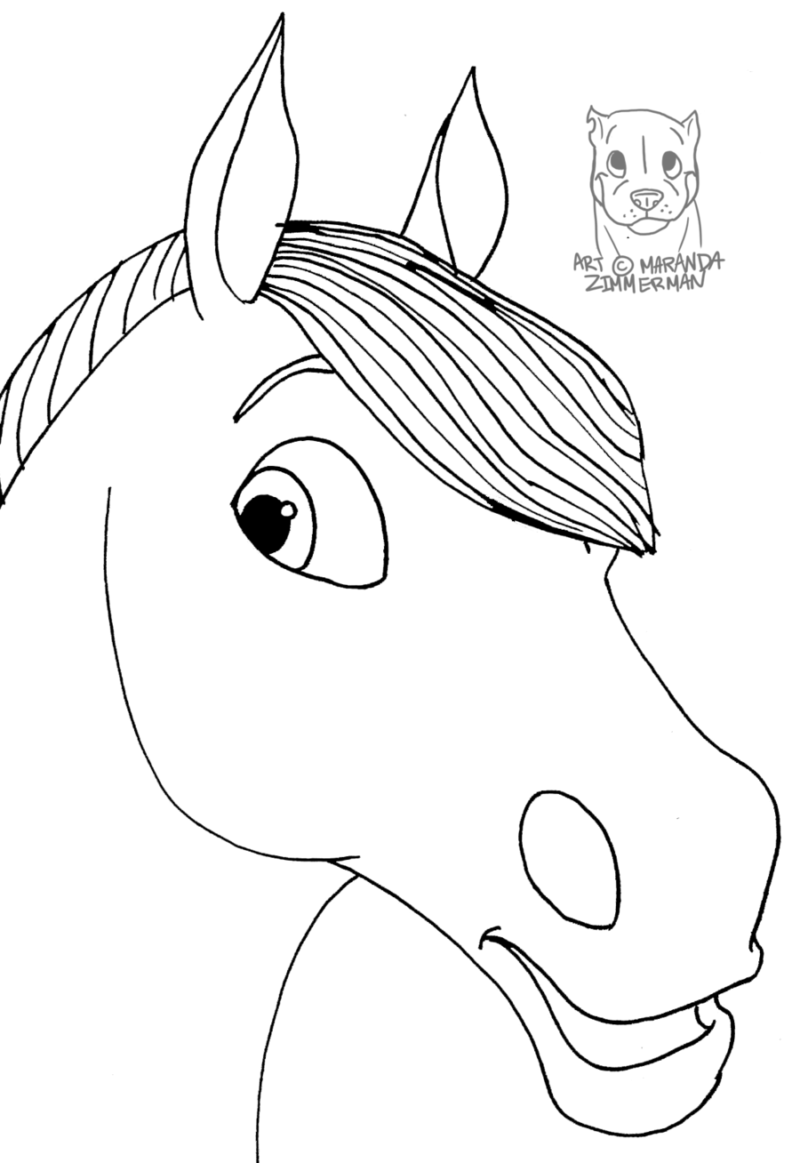 Horses Face Drawing at GetDrawings.com | Free for personal ...