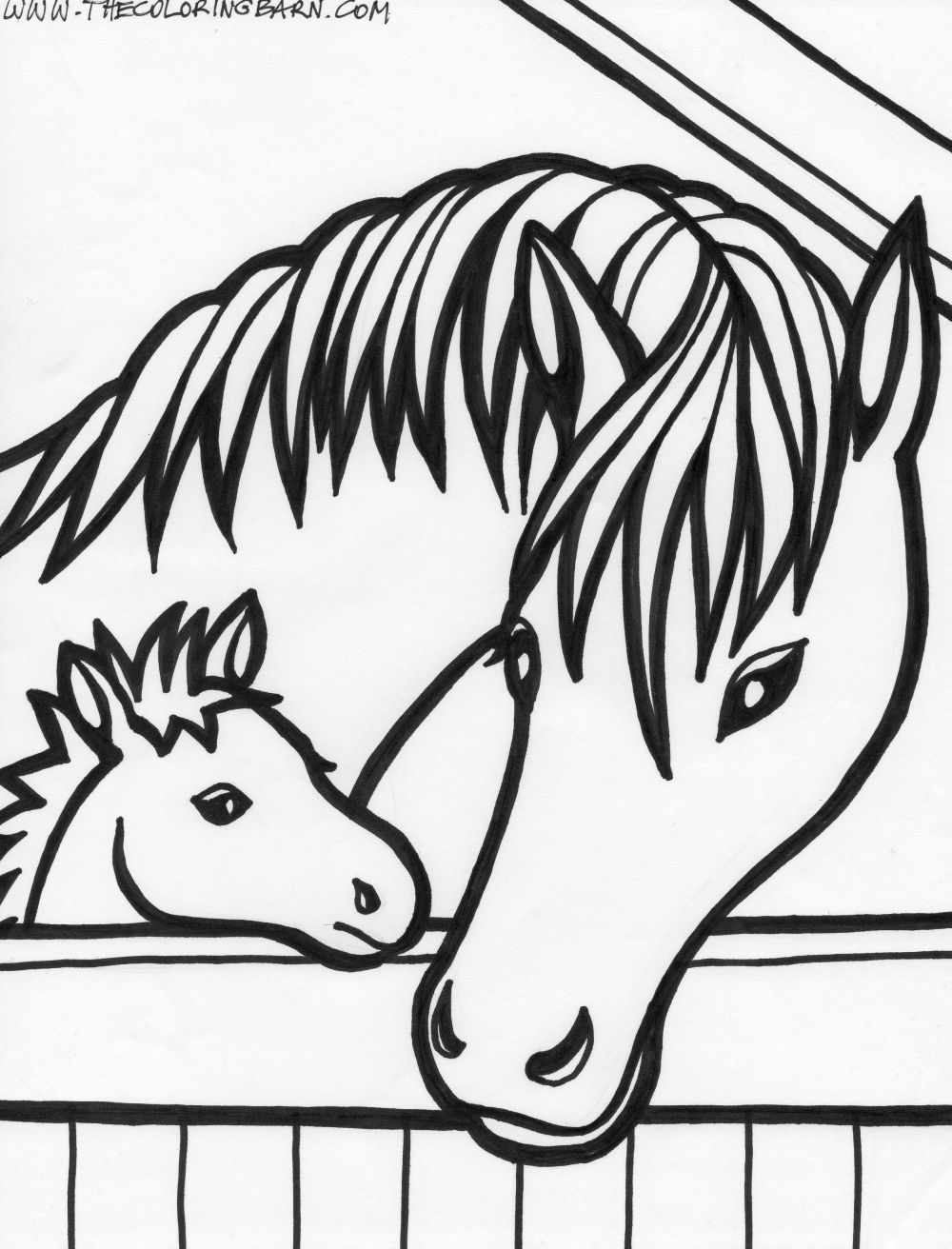 1000x1312 Baby Horse Coloring Pages Printable Template To Print Fur Seal