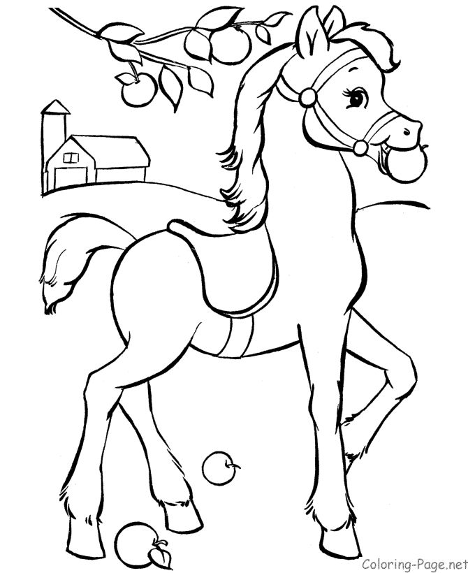 670x820 Horse Pictures To Coloring Pages