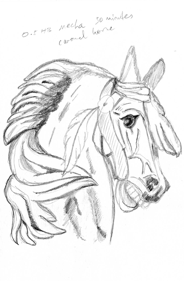 Horses Heads Drawing