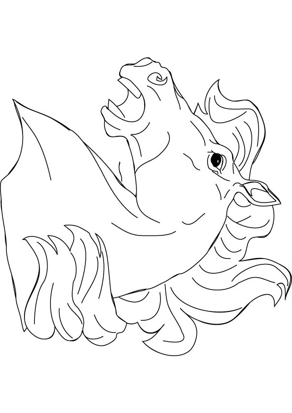 595x842 Horse Head Coloring Pages