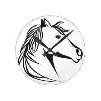 324x324 Horse Head Wall Clocks Zazzle