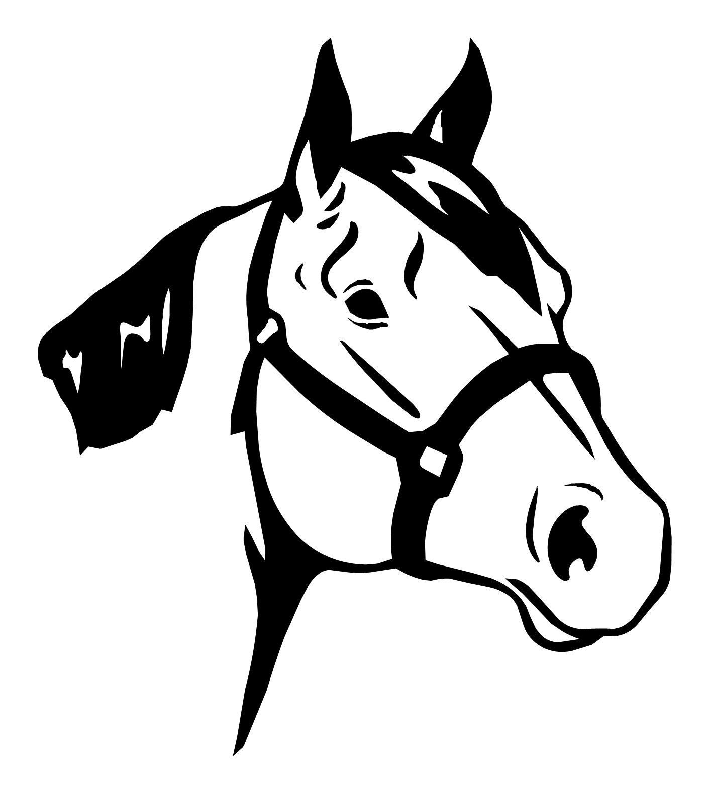 1411x1579 Large 10 Horse Head Equestrian Cowboy Decal And 50 Similar Items