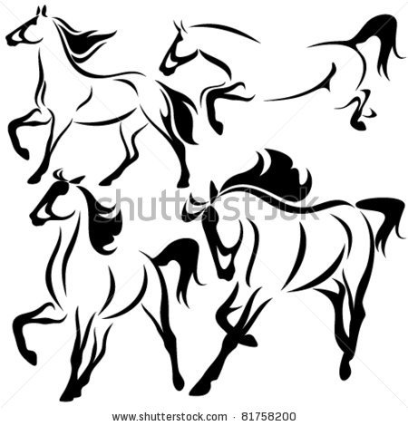 Horses Running Drawing