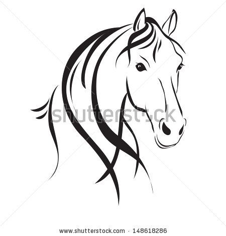 450x470 Inspirational Images White Horses Running Line Drawing