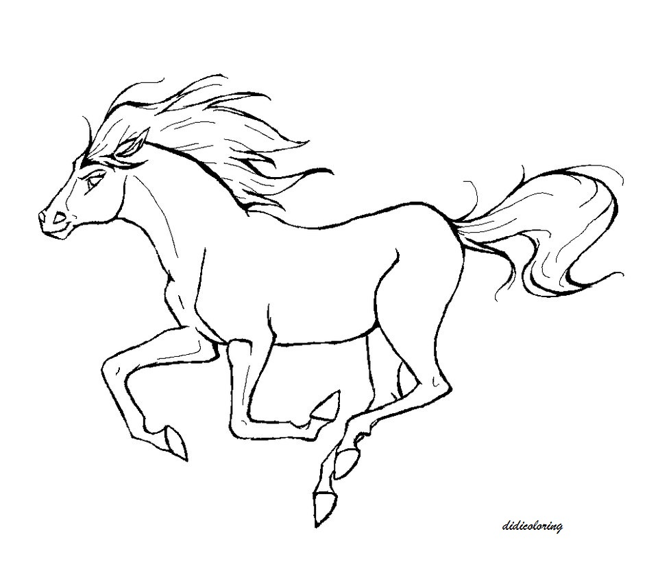 960x832 Printable Horse Refreshing In Windy Weather