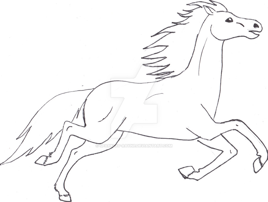 900x677 How To Draw A Horse Running. Running Horse Pt Vii By Chronically