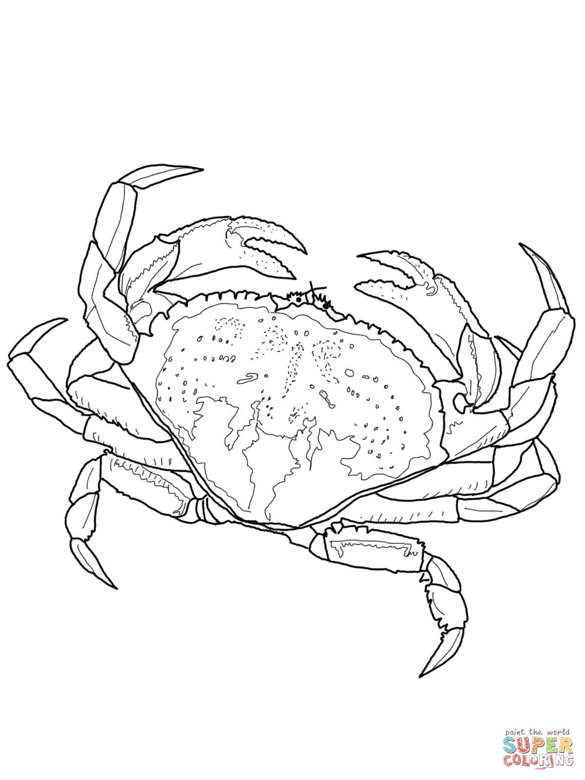 1200x1600 Dungeness Crab Coloring Page Free Printable Coloring Pages