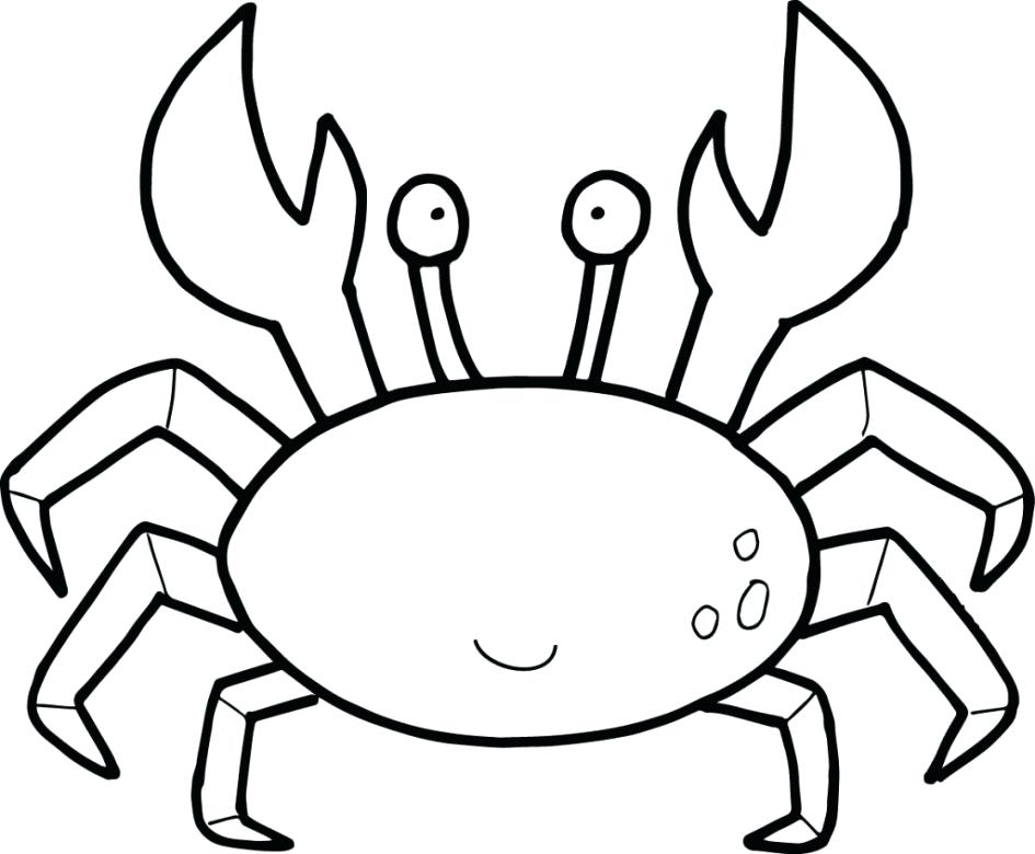 945x780 Coloring Pages Crab Hermit Shark Page Image Images Horseshoe Sheet