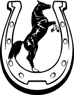 300x386 Arabian Horse Horseshoe Horseshoe Decals Western Amp Rodeo