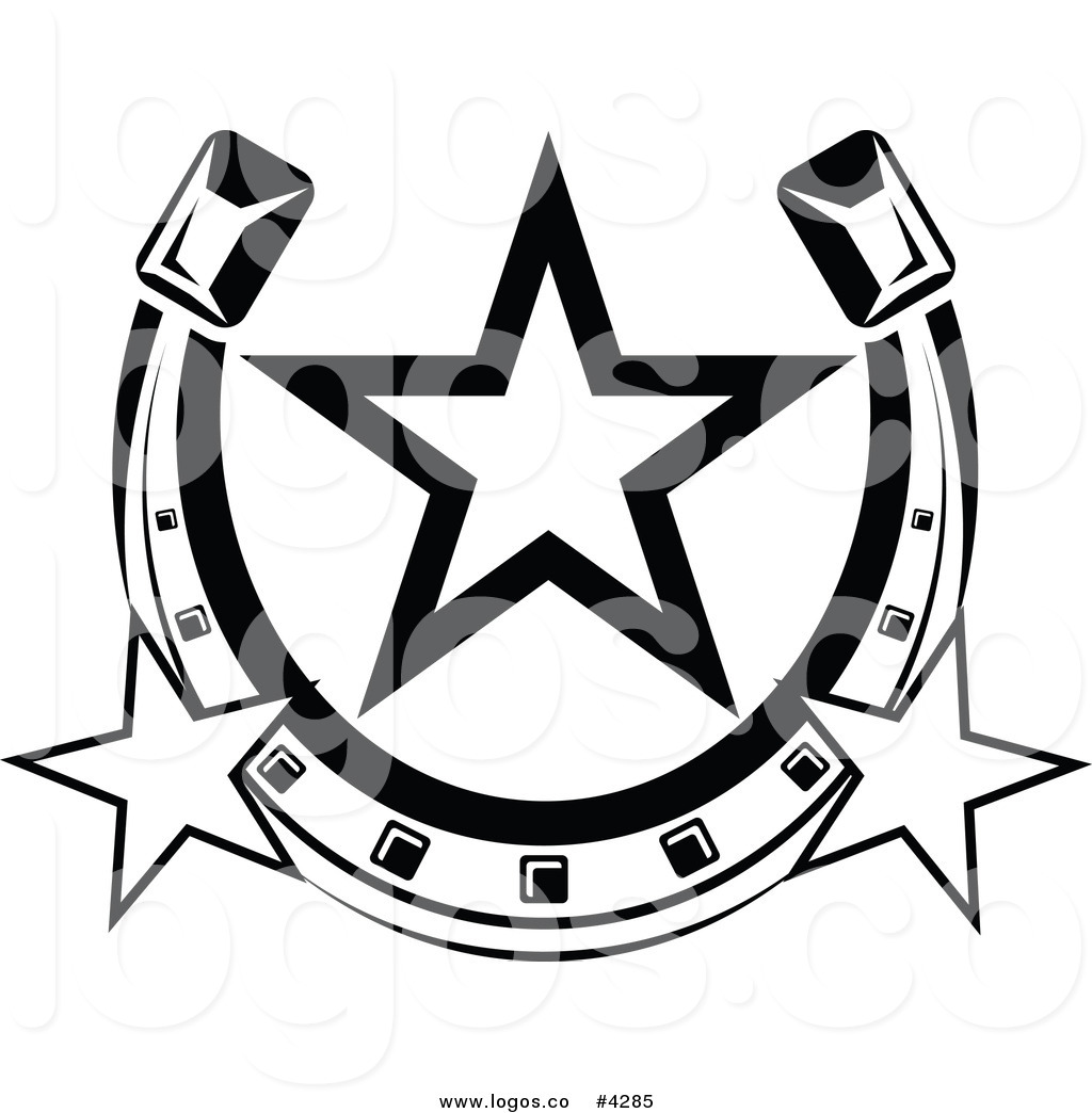 1024x1044 Royalty Free Horseshoe With Stars Logo By Vector Tradition Sm
