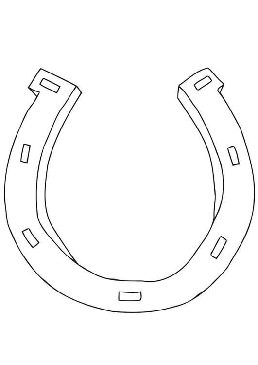 531x750 Coloring Page Horseshoe